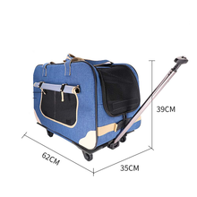 Dog Pet Carrier Cart Rolling Wheel Trolley Case Folding Disassembly Cat Bag Multi-pet