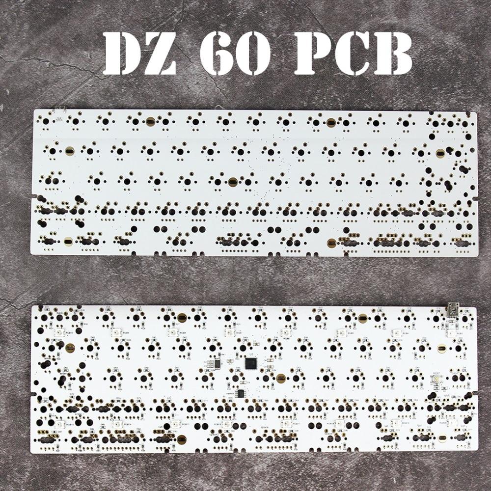 DZ60 Механическая плата клавиатуры 60% поддержка клавиатуры стрелка алюминиевые пластины gateron переключатель удар