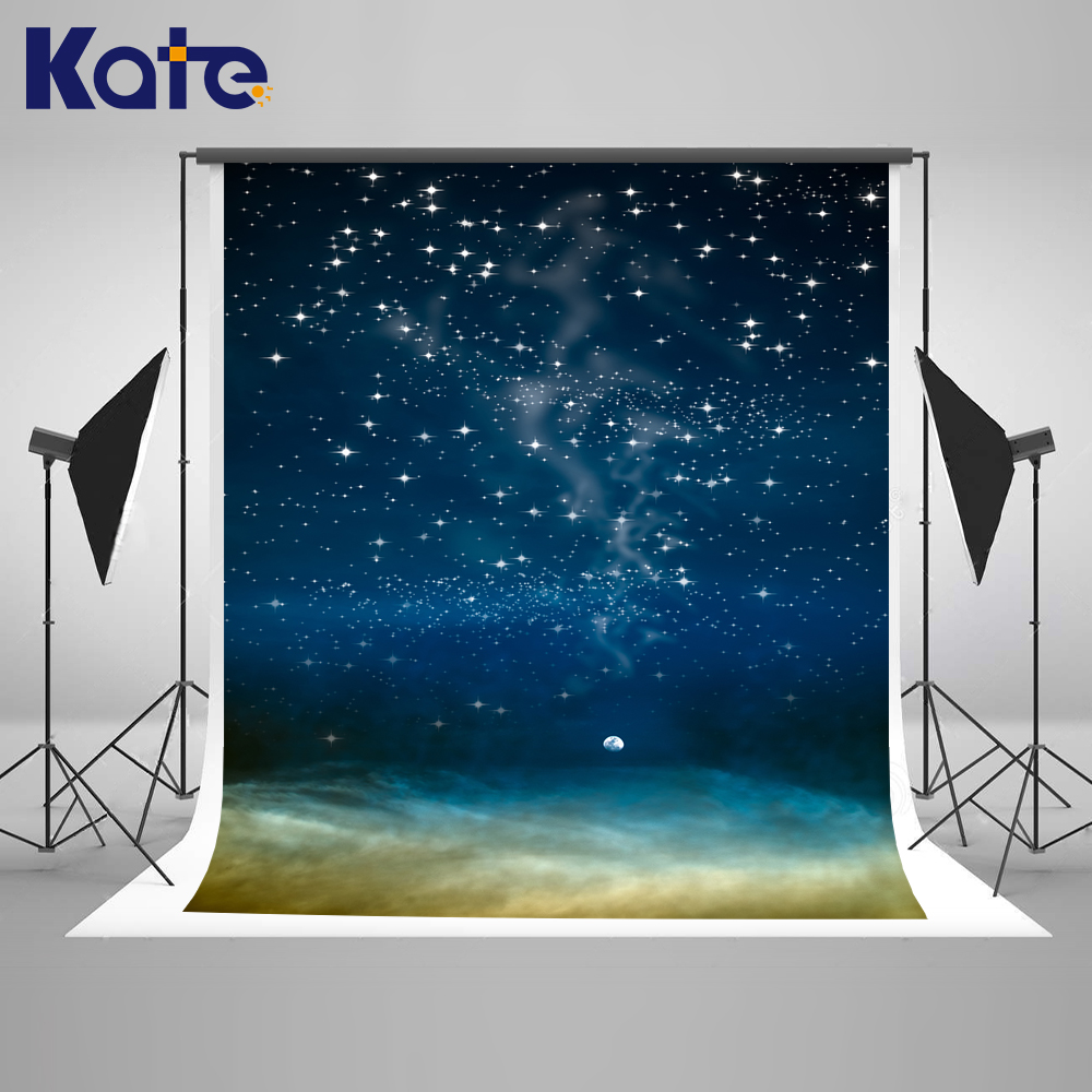 Kate Blue Starry Sky Photography Background 5x7ft Children Backgrounds For Photo Studio Cotton Fotografia Profissional kate 5x7ft photo background spring