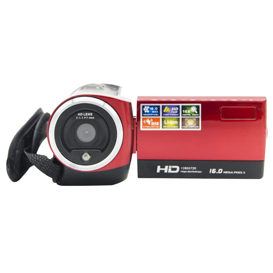 Portable Digital Camcorder Camera 2.4 inch DV HD Photoinstrument Cameras DVR TFT LCD 16X Digital Zoom 16MP CMOS Digital Video 5 0mp digital video camcorder w 4x digital zoom motion detection hdmi sd slot 2 5 tft lcd