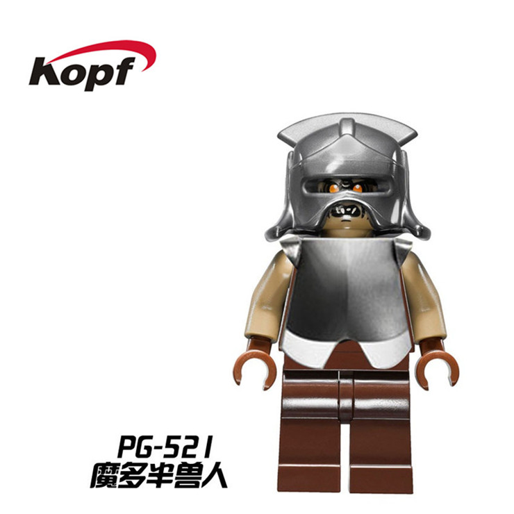 20Pcs The Hobbit Lord of the Rings Mordor Orc Battle at The Black Gate Bricks Building Blocks Children Collection Toys PG521