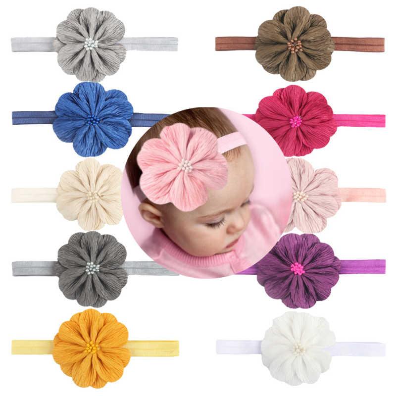 Diadema para bebé, corona, lazos con flor, diadema para niña, diademas para recién nacidos, accesorios para el cabello elásticos, banda de pelo turbante para bebé