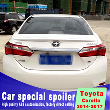 New design corolla 2014 2015 2016 2017 year high quality spoiler ABS External Decoration Plastic Rear Bottom Spoilers  ALTIS