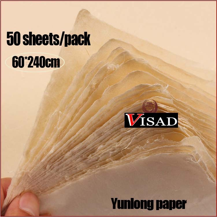 Pressed Xuan Paper 50 Pack White Calligraphy Rice Paper