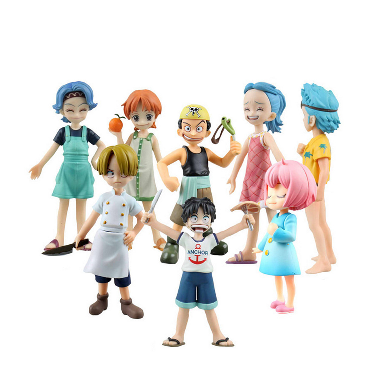 Chanycore Anime ONE PIECE MH POP MILD onepiece childhood Ver. Nojiko Luffy Nami Sanji Zoro Usopp FRANKY model toys