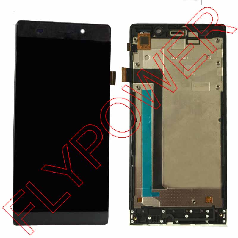 For K-touch Nibiru H1 lcd screen display+touch screen digitizer with Frame assembly by free shipping; black lcd screen display touch panel digitizer with frame for htc one m9 black or silver or gold free shipping