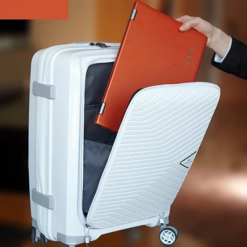 新ファッション超軽量荷物シリーズ 20 インチ PP 旅行バッグフロントポケットローリング荷物袋スピナーブランドトロリースーツケース  グループ上の スーツケース & バッグ からの スーツケース の中 1