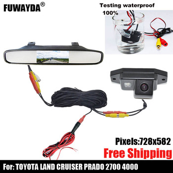 free shipping!!! SONY CCD Special Car Rear View reverse backup Camera for TOYOTA LAND CRUISER PRADO 2700 4000 image