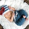 0 a 6 meses del bebé foto atrezzo recién nacido muchachos de los bebés de punto de ganchillo de vestuario foto fotografía proposición out baby clothing
