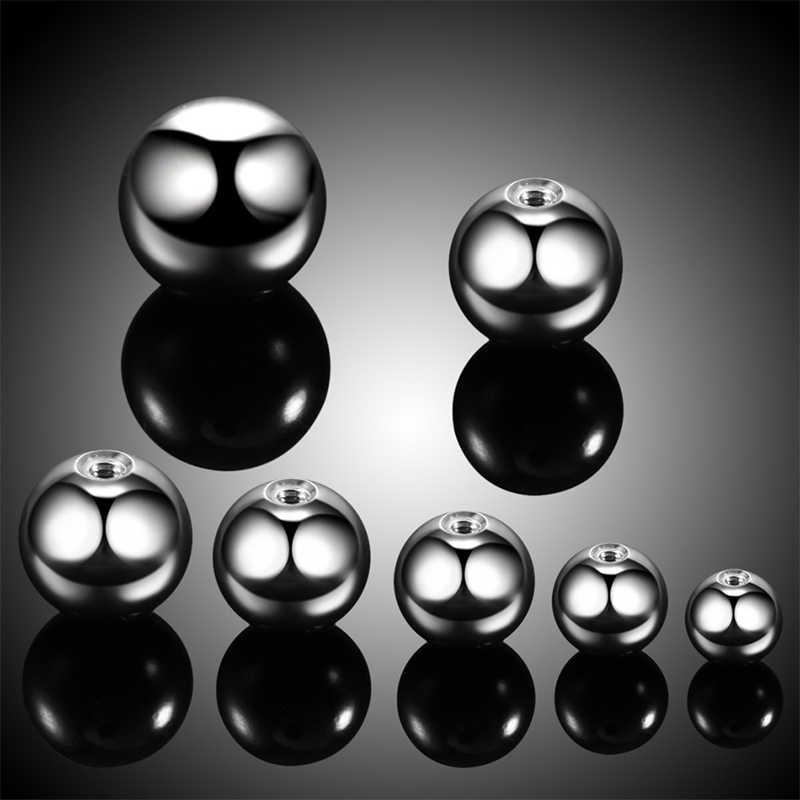 10 יח'\חבילה פלדת פירסינג כדורי פטמת פירסינג האף טבעת גבות פירסינג בורג כדורי החלפת קבצים מצורפים טבעות כדור