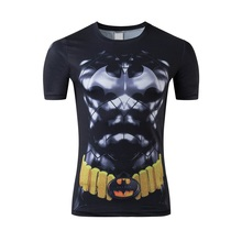 Fashion movement short sleeve T-shirt men round collar short sleeve T-shirt superhero batman news T-shirt free shipping