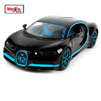 Maisto 1:24 2017 Bugatti Chiron 42 Seconds Black Diecast Model Racing Car Toy New In Box Free Shipping NEW ARRIVAL 31514