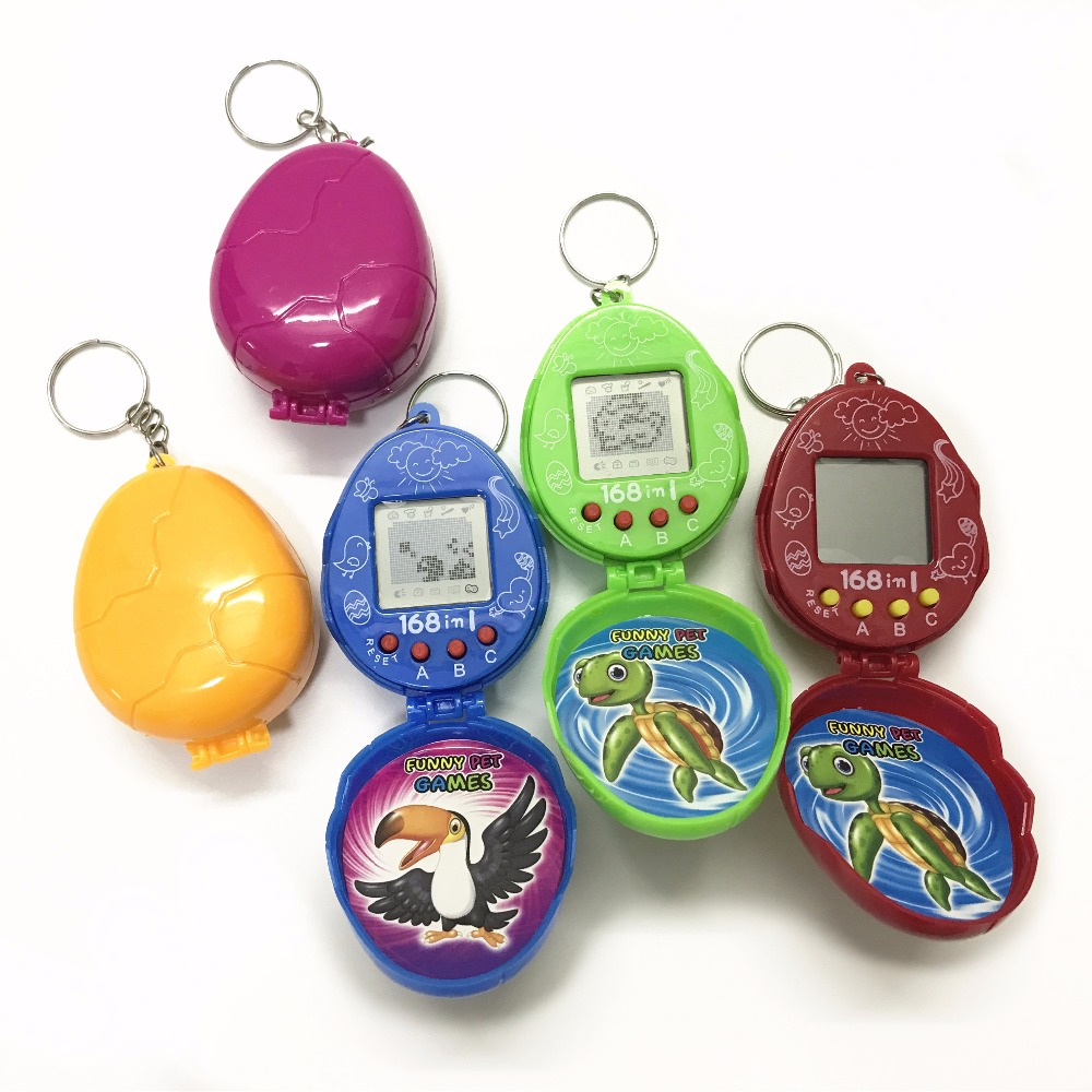 Dinosaur Egg Tamagotchi Electronic Pets Toys 90S Nostalgic 168 Pets In One Virtual Cyber Pet Toy Tamagochi Pet Toy Handheld Game