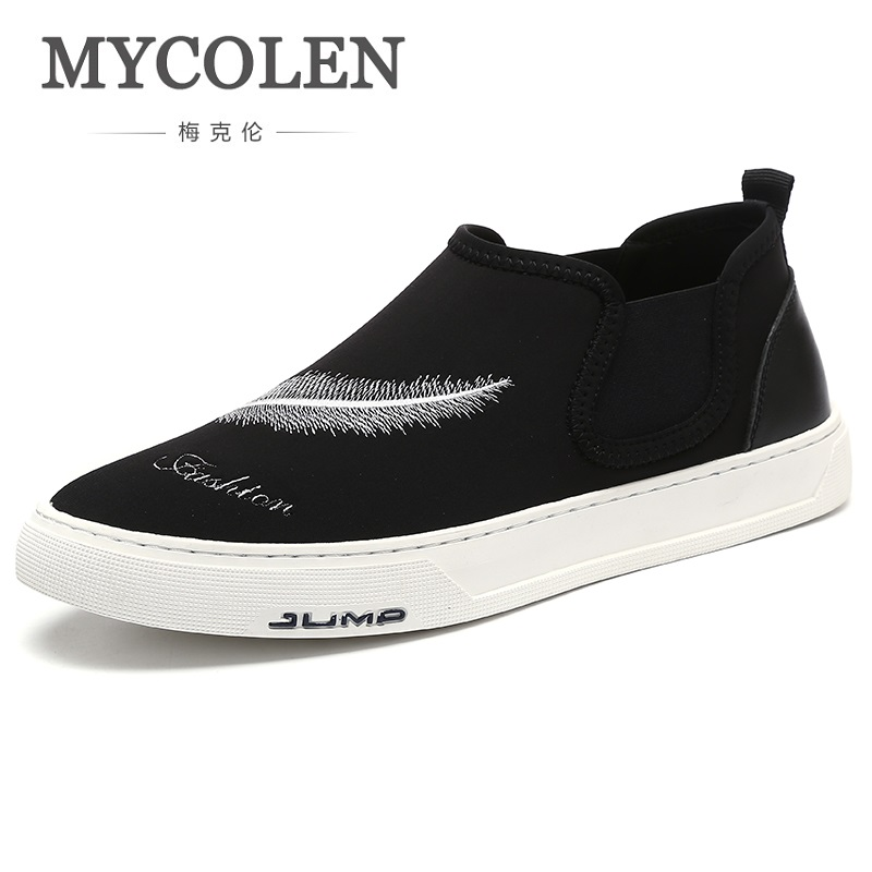 MYCOLEN New 2018 Canvas Men Shoes Spring Autumn Comfortable Men Casual Shoes Plimsolls Breathable Men Flats Shoes Chaussure micro micro 2017 men casual shoes comfortable spring fashion breathable white shoes swallow pattern microfiber shoe yj a081