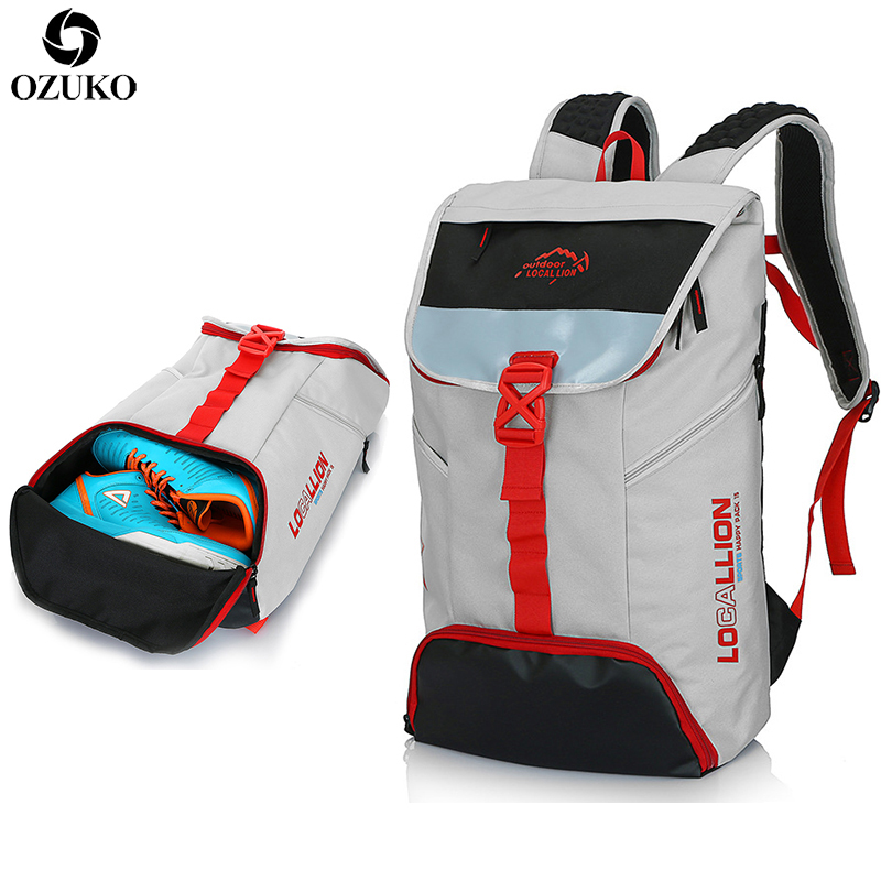 OZUKO Men Backpack Large Capacity Versatile Utility Travel Backpack Multifunctional Waterproof Mountaineering Travel School BagsOZUKO Men Backpack Large Capacity Versatile Utility Travel Backpack Multifunctional Waterproof Mountaineering Travel School Bags