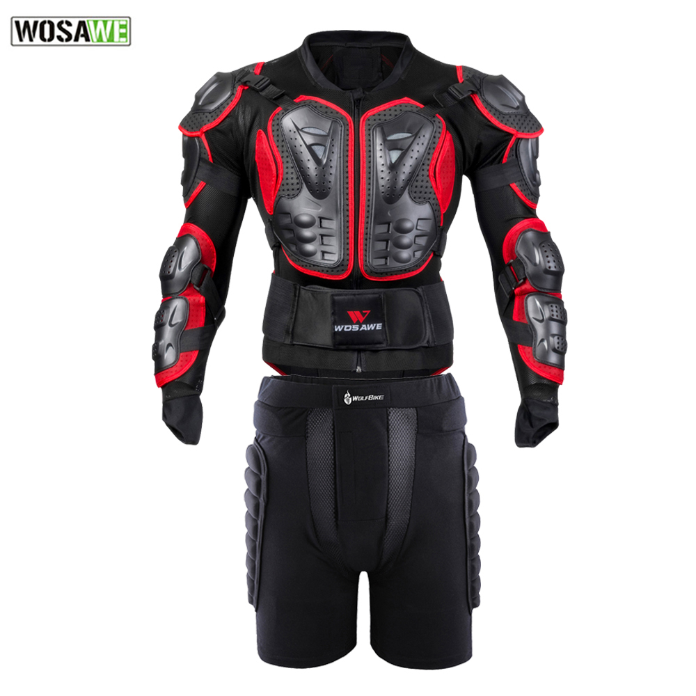 WOSAWE Full Body Protection Jacket Motorcycle Protective Armor Motocross Downhill Racing Chest Back Protector Hip Guard cycling motorcycle protective armor jackets protection motocross clothing protector back armor protector racing full body jacket