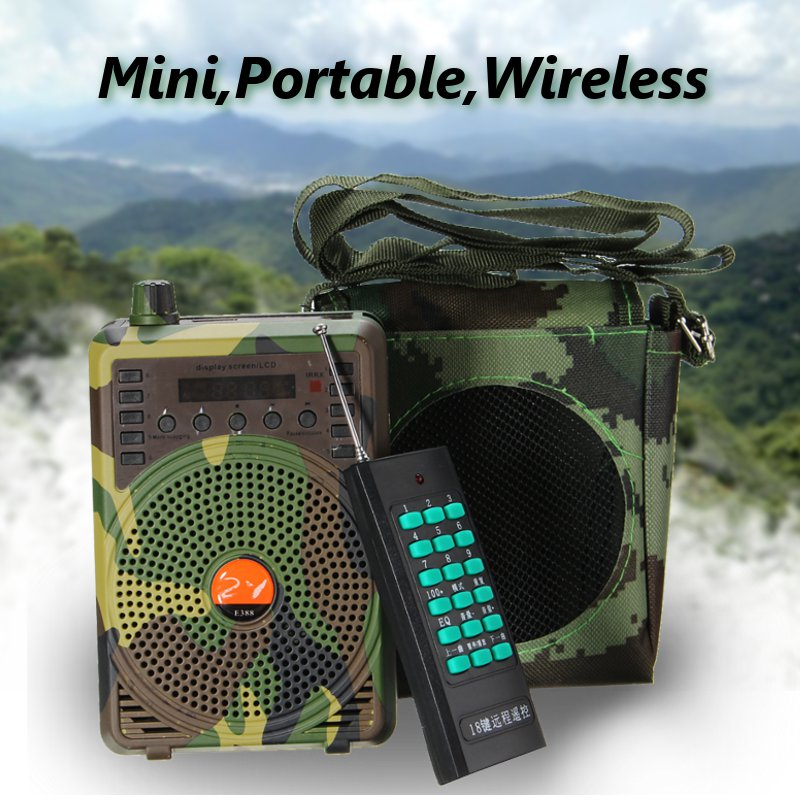 48W Hunting Decoys Loud Speaker Bird Caller Predator Sound Caller MP3 Player with Remote Control Voice Traps Outdoor