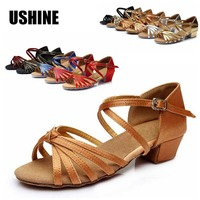 Professional Hot Sale Satin Latin Dance Shoes Women Girls Salsa Ballroom Shoes Zapatos De Baile Latino