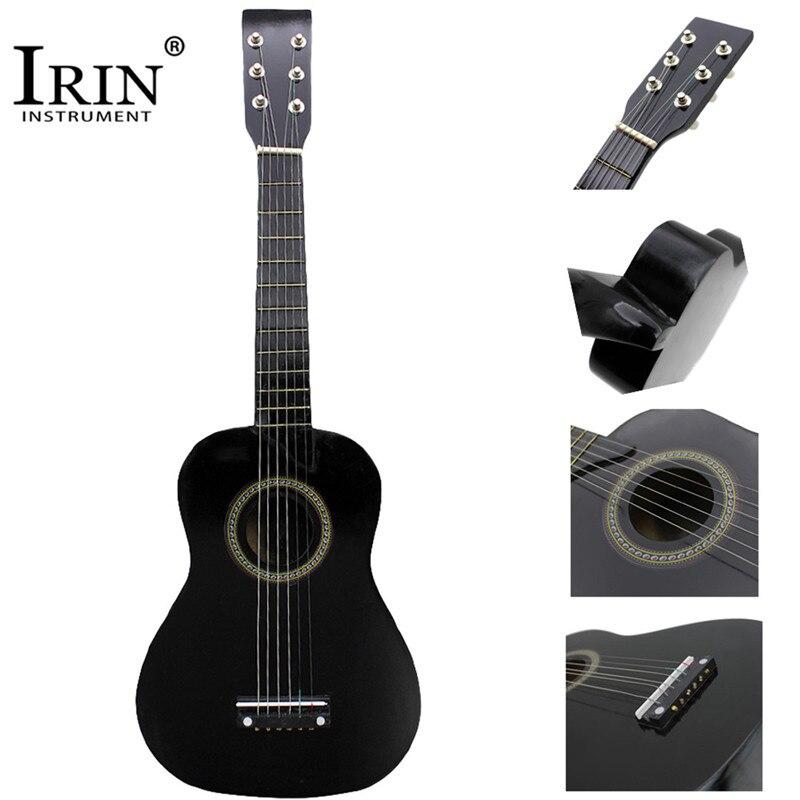 IRIN Mini 23 zoll Linde 12 Bünde 6 Saiten Gitarre Hawaii Ukulele Akustische Gitarre Für Kinder Anfänger Mit Pick Saiten geschenke