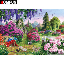 HOMFUN 5D DIY Diamond Painting Full Square/Round Drill Garden Scenic 3D Embroidery Cross Stitch gift Home Decor Gift A08211 homfun full square round drill 5d diy diamond painting garden