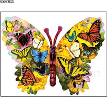 Diy Diamond Painting Cross Stitch Multicolored Butterfly Family Needlework Embroidery Full Round Mosaic Decoration Resin