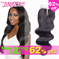 8A peruvian virgin hair lace closure 4*4 peruvian body wave closure Li&Queen human hair closure Free Middle 3 Part lace Closure