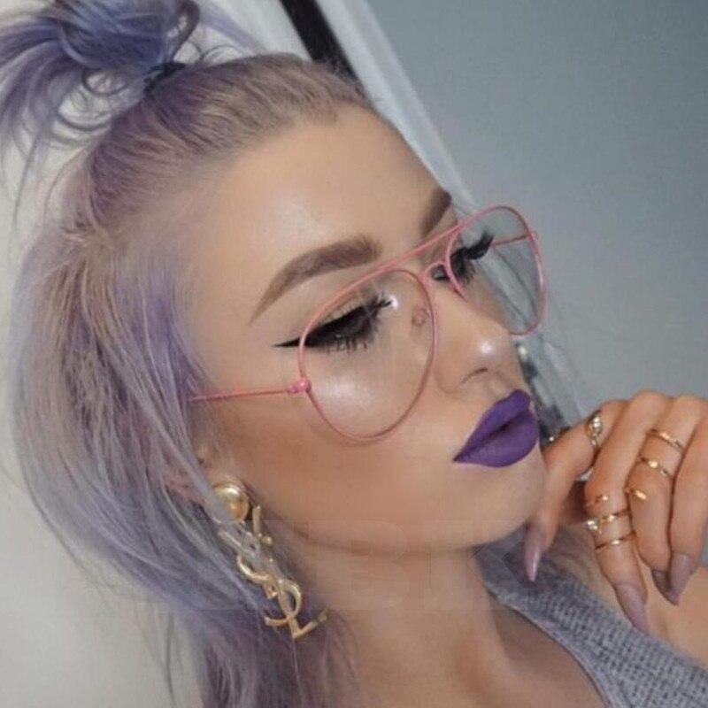 Classic Aviator Sunglasses Women Pink Brand Clear Gradient Sunglasses Points Sun Glasses Men Shades Lunette Femme fb Sun Glases