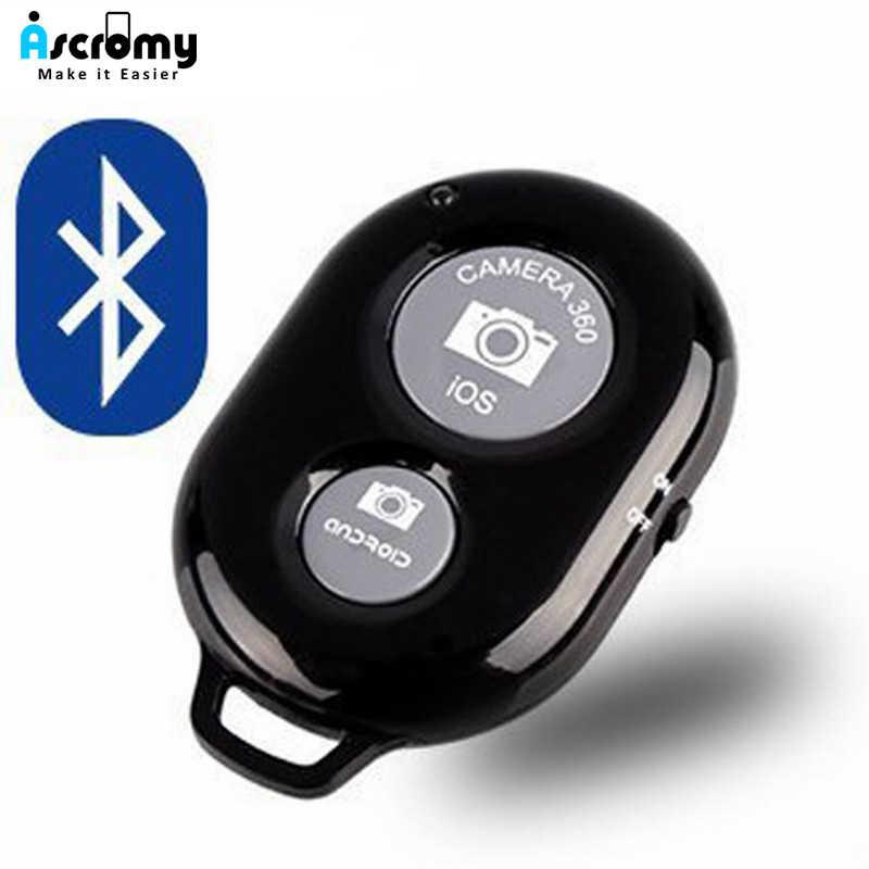 Ascromy Bluetooth Máy Ảnh Màn Trập Điều Khiển Từ Xa với Dây Đeo Cổ Tay cho iphone 6s Điện Thoại Thông Minh Điện Thoại Di Động Ống Kính lente para celular