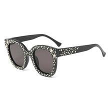 MINCL 2018 Vente Chaude Vintage Mode Lurxy Diamant Étoiles lunettes de Soleil  Femmes Surdimensionné Carré Lunettes UV400-gyw 93b3793ac653
