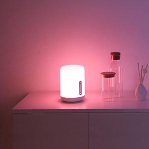 Image 5 - شاومي Mijia مصباح السرير 2 الذكية الملونة ضوء صوت واي فاي التحكم اللمس التبديل مي المنزل App Led لمبة ل أبل Homekit سيري