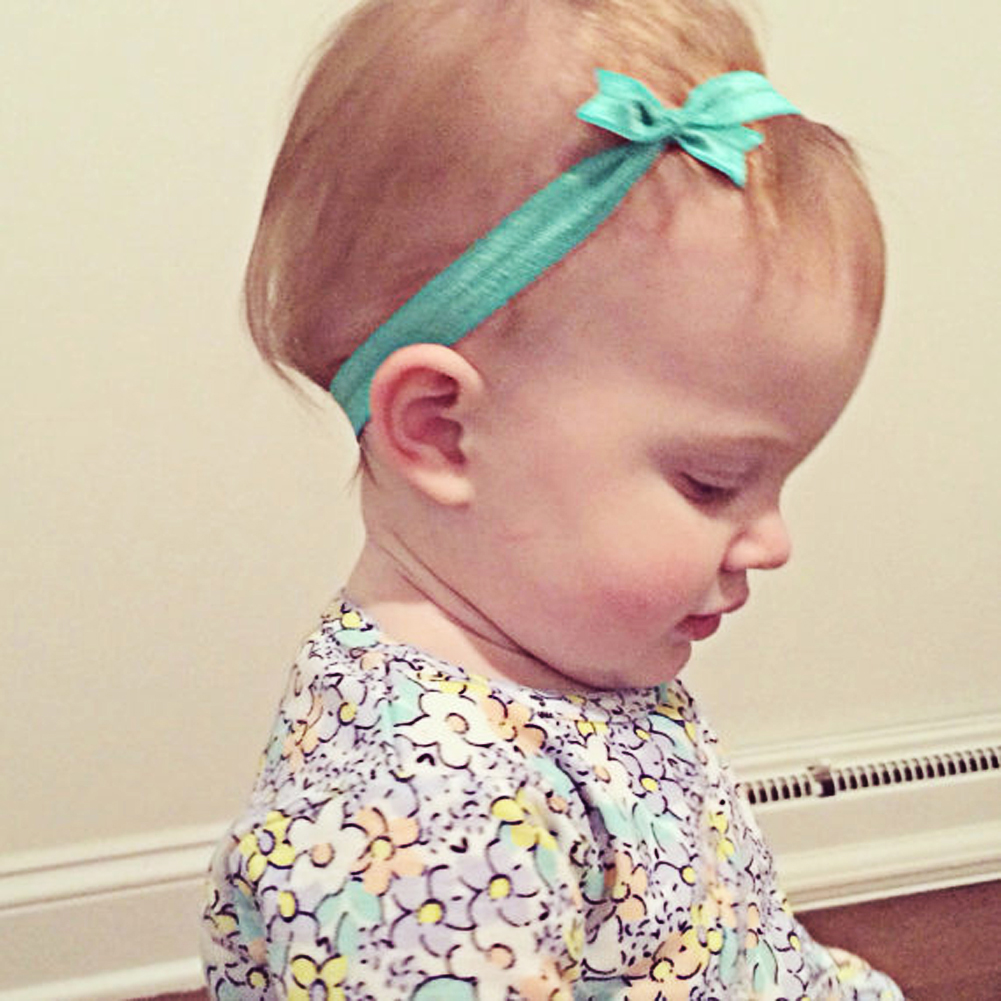 ᑐ10 colores bebé Bandas para la cabeza gasa bowknot fiesta de ...