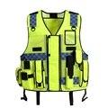 Breatable Noite Reflexiva de alta Visibilidade Vestuário de Segurança de Tráfego Reflexivo Colete de Malha Para Impressão