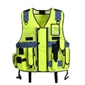 High Visibility Night Reflective Safety Clothing Reflective  Traffic  Breatable Mesh Vest Printable