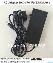 19V/4.7A AC/DC Adaptor 110~240V/50~60Hz AC Input OD 5.5mm ID 2.5mm with LED indicator for digital amplifier laptop