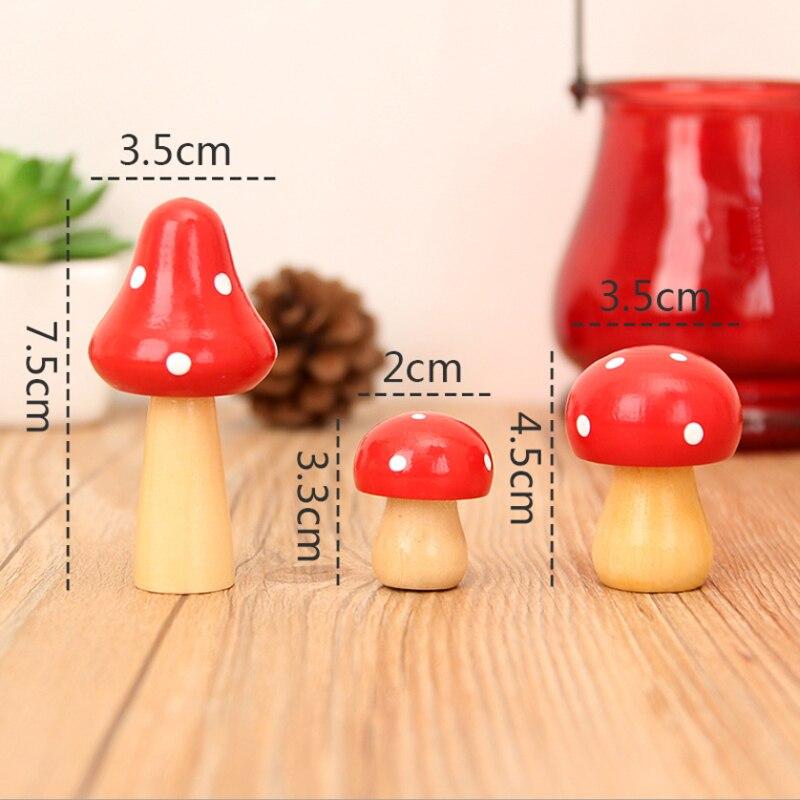 Hot Sale Cute Mushroom Miniaturas Creative Wood Craft