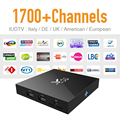 Europa IPTV Tv Box Android 6.0 y 1700 Cielo Árabe Canal de Viajes IPTV Canales y Una Fuerte Señal Wifi Caliente S905X CPU 4 K Tv Receptor