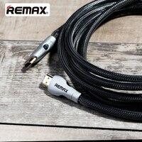 REMAX HDMI Кабель-адаптер 4 К V2.0 HD 3D 1080 P покрытием Порты нейлона крышки для проектора/компьютер/ HDTV/STB/Оборудование для PSP/Xbox/DVD/ЖК-дисплей