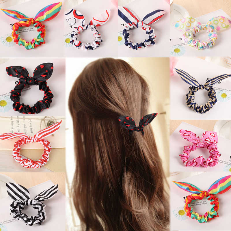 2019 New 1PC Rabbit Ears Hair Band Children Kids Hair Accessories for Women And Girls Exquisite Gifts Elasticity cute hair bands