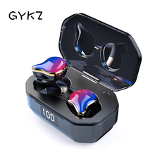 GYKZ Wireless Bluetooth 5.0 Earphone Magic Flame Ear Hook Stereo Headset Charging Earplug 6D Surround Sport Music