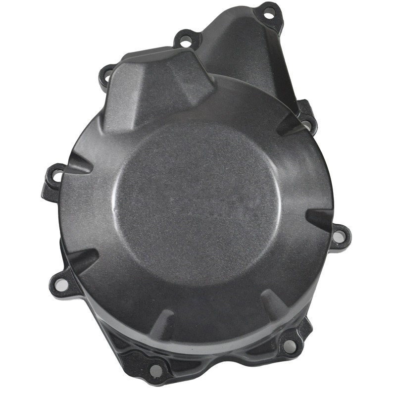 LOPOR Motorcycle Parts Engine Stator Cover Crankcase For Yamaha FZ6R 2009 2010 2011 2012 FZ 6R 09 10 11 12 Black new for yamaha yzfr6 yzf r6 2006 2007 2008 2009 2010 2011 2012 2013 2014 motorcycle engine stator cover chrome left side