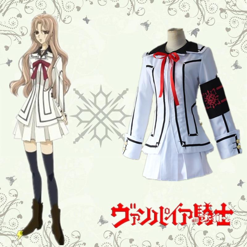 Souen Ruka cosplay kostymer dam vit uniform japansk anime Vampyr - Maskeradkläder och utklädnad