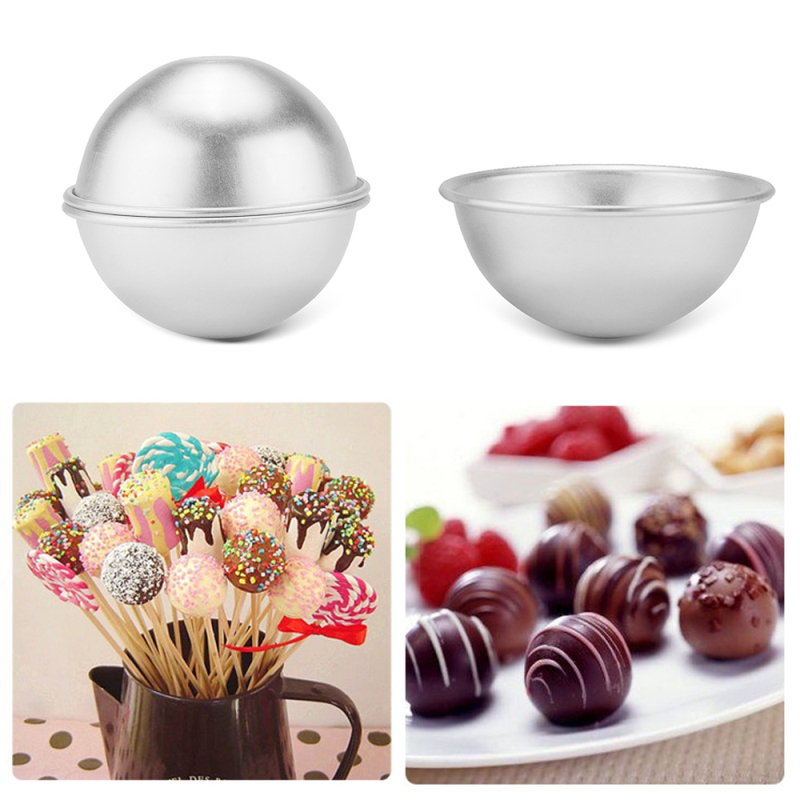 3Pcs Bath Bombs Metal Aluminum Alloy Bath Bomb Mold 3D Ball Sphere Shape DIY Bathing Tool