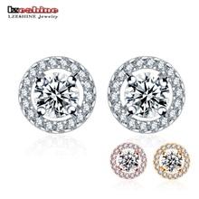 LZESHINE Trendy Oorknopjes met AAA + CZ steen Fashion Women Earrings For Wedding / Engagement Jewelry Accessories