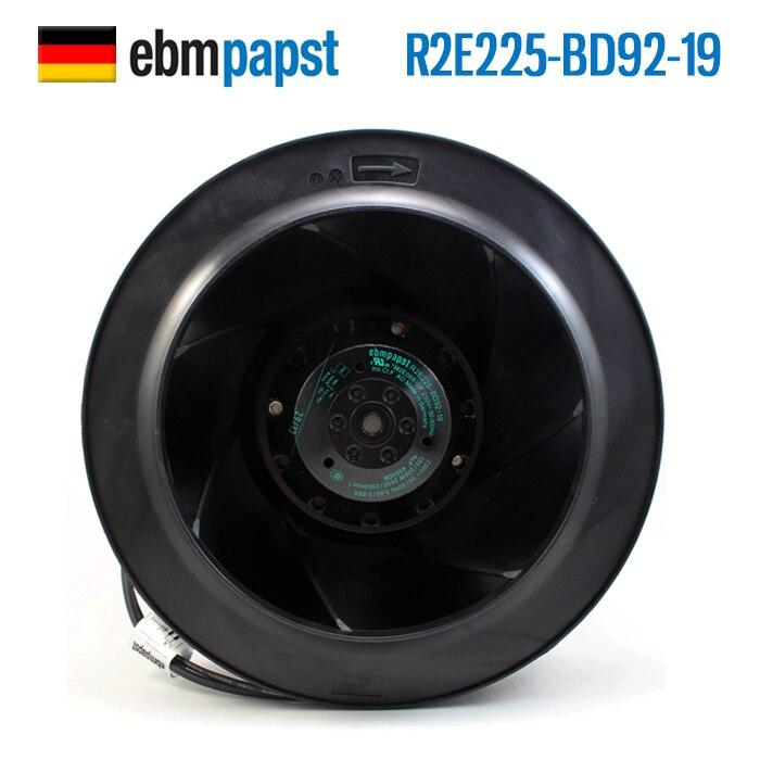 R2E225-BD92-19 Genuine Ebmpapst 230V 200W ABB Inverter Centrifugal Fan