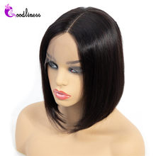 Glueless Short Bob Wig Lace Front Human Hair Wigs Remy Brazilian Straight Lace Front Bob Cut Wigs With Baby Hair Bleached Knots(China)