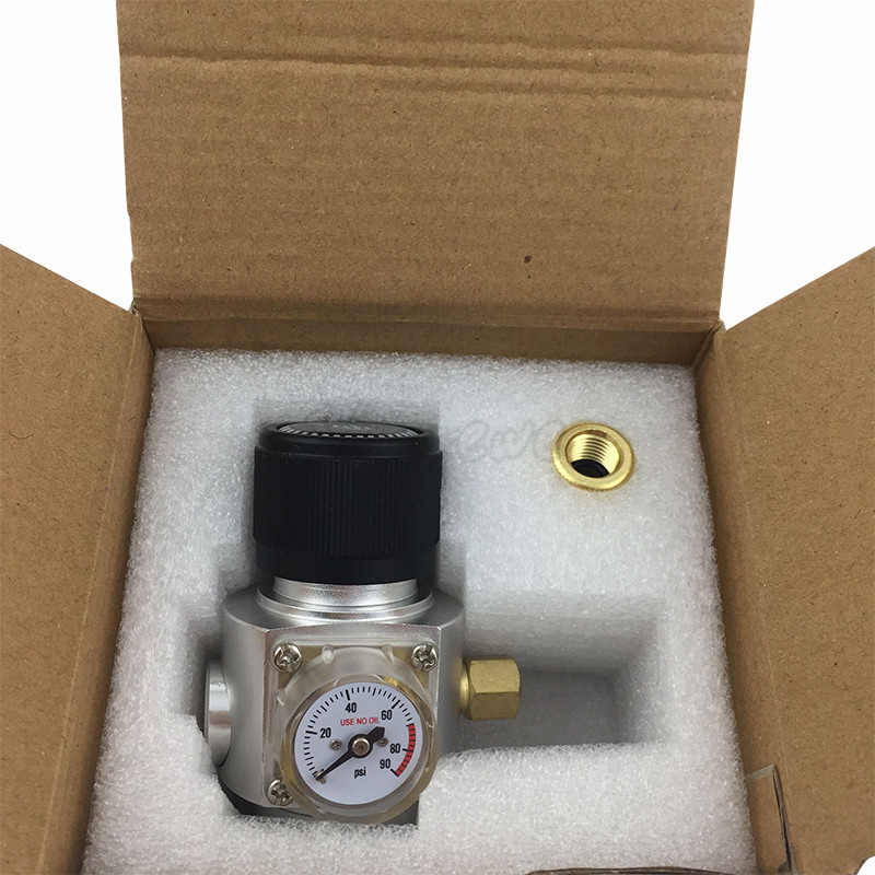 0 90PSI Mini CO2 Gas Regulator 3 8 quot Thread With Corny keg ball lock disconnect for beer tap homebrew GAS regulator in Other Bar Accessories from Home amp Garden
