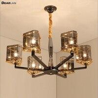 Moderna luz do candelabro de cristal moderna suspensão vidro lâmpada para sala estar quarto projeto hotel lustres iluminação
