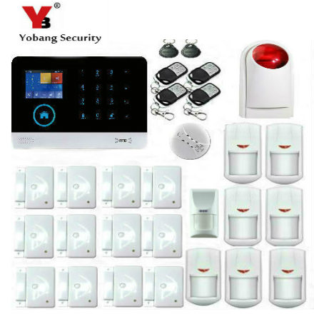 YobangSecurity WIFI GSM Wireless Home Security Alarm System with Pet Friendly Immune Detector Wireless Siren Android IOS APP yobangsecurity wireless wifi gsm gprs rfid home security alarm system smart home automation system pet friendly immune detector