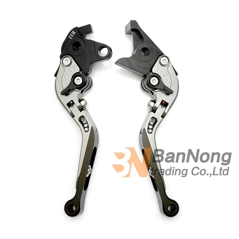 ФОТО motorcycle CNC Modified Aluminum Telescopic folding Brake Clutch Hand Levers For HONDA CB1300 03-10 CBF1000/A 2010 2011 2012