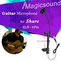 93-130mm Espessura De Madeira Guitarra Microfone Condensador!! top Quality XLR-4Pin Guitarra Microfone para Sennheiser Shure Sistema Sem Fio